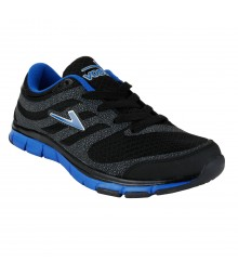 Vostro Black Blue Sports Shoes for Men - VSS0042